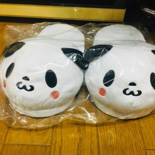 ラクテン(Rakuten)の【非売品】 楽天 お買い物パンダ ふわもこスリッパ(スリッパ/ルームシューズ)