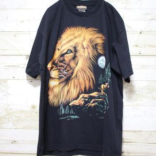 コロンビア(Columbia)のsolid rock アニマル柄 ライオン デザインシャツ 柄シャツ(Tシャツ/カットソー(半袖/袖なし))