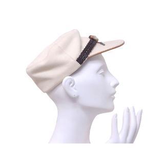 クリスチャンディオール(Christian Dior)のクリスチャンディオール キャスケット 帽子 コットン サイズ 58 ホワイト 白(キャスケット)