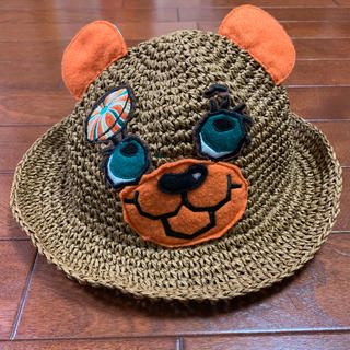 グラグラ(GrandGround)のGRANDGROUNDグラグラ★くまちゃんアップリケキャラクターパルプハット(帽子)