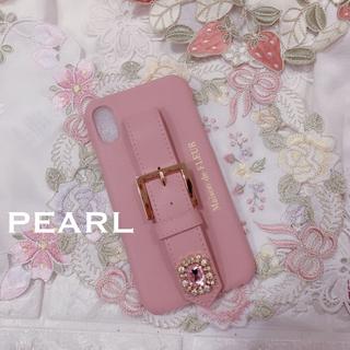 メゾンドフルール(Maison de FLEUR)の新品未使用 Maison de Fleur iPhoneX/XS ピンク ケース(モバイルケース/カバー)