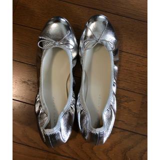 ジェリービーンズ(JELLY BEANS)の靴(シルバー)(バレエシューズ)