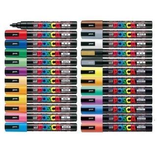 ミツビシエンピツ(三菱鉛筆)の三菱鉛筆 ポスカ( 中字丸芯 )PC-5M 全24色セットです(ペン/マーカー)