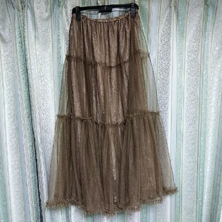 メゾンドフルール(Maison de FLEUR)のcanone 総レーススカート(ロングスカート)