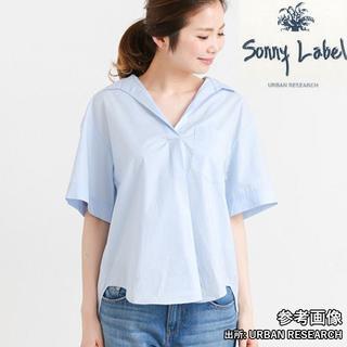 サニーレーベル(Sonny Label)のSonny Label ビッグシルエットスキッパーシャツ 半袖(ブルー系)(シャツ/ブラウス(半袖/袖なし))