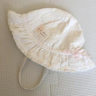 クーラクール(coeur a coeur)のクーラクール 新品タグ無し 46cm 帽子 夏用 麦わら レース フリル(帽子)