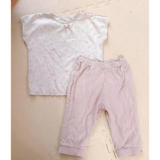 ジーユー(GU)のGU 半袖パジャマ ピンク星♡110(パジャマ)