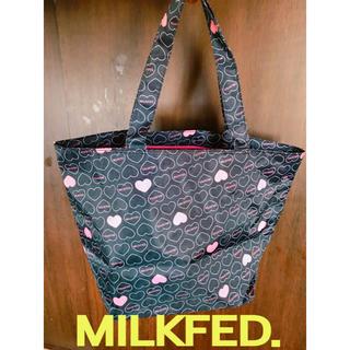ミルクフェド(MILKFED.)の送料無料❤️MILKFED.チャック付き大容量バッグWジッパーミルクフェド(トートバッグ)