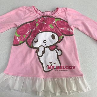 マイメロディ(マイメロディ)のマイメロディ/レース付きTシャツ/ピンク(Tシャツ/カットソー)