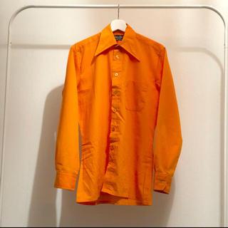 ジョンローレンスサリバン(JOHN LAWRENCE SULLIVAN)の70s  オレンジ シャツ ヴィンテージ(シャツ)