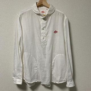 ダントン(DANTON)のDANTON リネン丸襟プルオーバーシャツ(シャツ)