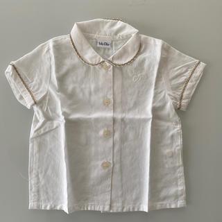 ベビーディオール(baby Dior)のbaby Dior ディオール 女の子 半袖ブラウス 80(シャツ/カットソー)