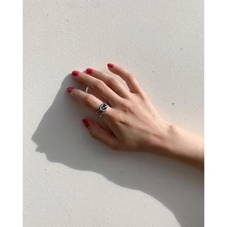 カスタネ(Kastane)の(silver925) Black Heart ring(リング(指輪))