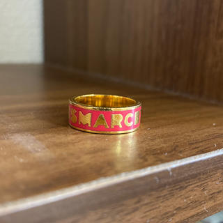 マークバイマークジェイコブス(MARC BY MARC JACOBS)のマークバイマークジェイコブス エナメルリング ロゴ 指輪(リング(指輪))