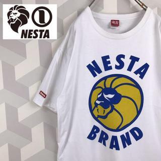 ネスタブランド(NESTA BRAND)の【NESTA BRAND】肉厚 L ビッグプリント Tシャツ ライオン レゲエ白(Tシャツ/カットソー(半袖/袖なし))