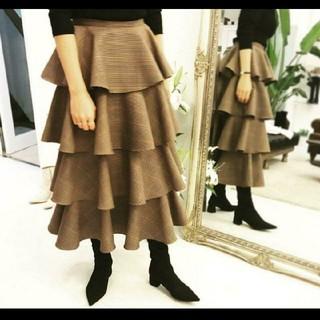 ツルバイマリコオイカワ(TSURU by Mariko Oikawa)のツルバイマリコオイカワ チェック スカート(ロングスカート)