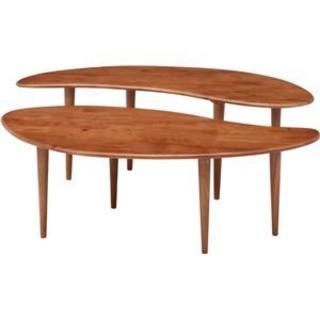 センターテーブル COFFEE ミディアムブラウン(ローテーブル)