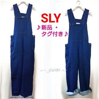 スライ(SLY)のKERSEY SALOPETTE-B♡SLY スライ 新品 タグ付き(サロペット/オーバーオール)