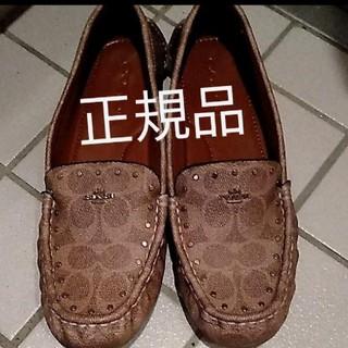コーチ(COACH)の正規品 本物 COACH コーチ フラットシューズ ロゴ 人気 革靴(ローファー/革靴)