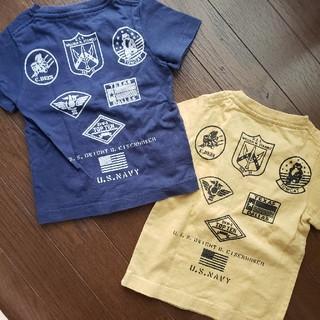 アヴィレックス(AVIREX)の美品 AVIREX  Tシャツ 2枚セット 100(Tシャツ/カットソー)