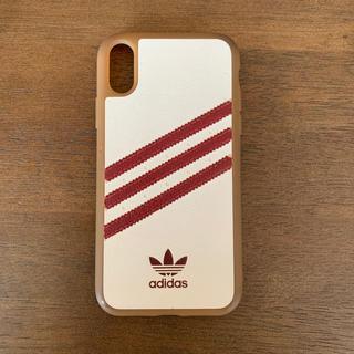 アディダス(adidas)のiPhoneXRケース adidas samba 赤/白(iPhoneケース)