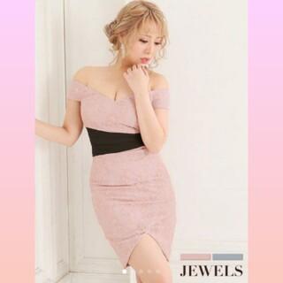 ジュエルズ(JEWELS)のJEWELS オフショル ピンク ドレス(ナイトドレス)
