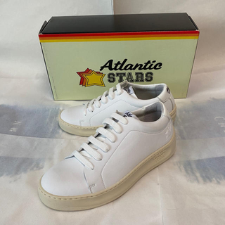 ロンハーマン(Ron Herman)の新品未使用!Atlantic Stars ホワイトレザースニーカー(wEU39)(スニーカー)