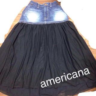 アメリカーナ(AMERICANA)のアメリカーナ☆チュールスカート(ロングスカート)