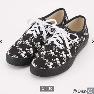 ロデオクラウンズワイドボウル(RODEO CROWNS WIDE BOWL)の新品 ロデオ×ミッキー靴(スニーカー)