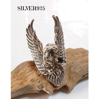 4109 SILVER925 アメジスト イーグルリング18号 シルバー925製(リング(指輪))