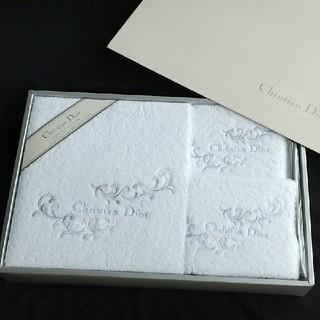クリスチャンディオール(Christian Dior)のChristian Dior クリスチャン・ディオール バスタオル セット(タオル/バス用品)