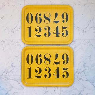 EAMES - 2枚セット Eames イームズ トレー 数字柄 お盆 ランチョンマット