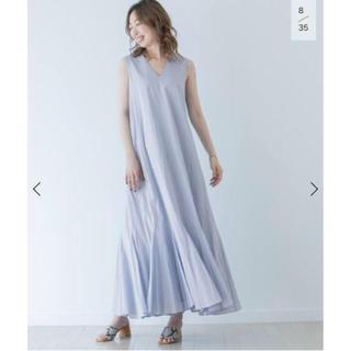 イエナ(IENA)のマリハ MARIHA 夏の月影のドレス ブルー 36 新品タグ付(ロングワンピース/マキシワンピース)