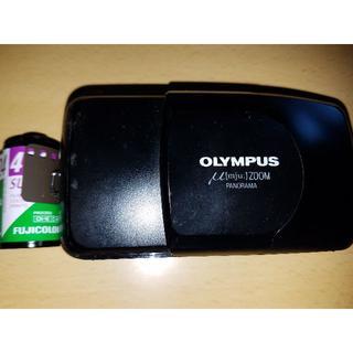 OLYMPUS - リモコン/取説追加■オリンパスコンパクトカメラ新品電池24枚フィルム付■ミューμ