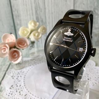 ヴィヴィアンウエストウッド(Vivienne Westwood)の【美品】vivienne ヴィヴィアン 腕時計 アーガイル ブラック メンズ(腕時計(アナログ))