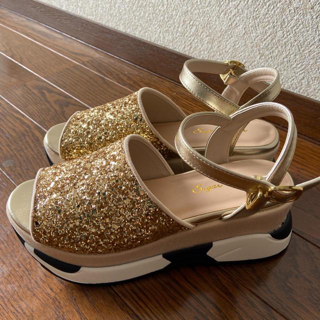Sugar Sugar(シュガーシュガー)のシュガー シュガー Sugar Sugar グリッタースポーツサンダル レディースの靴/シューズ(サンダル)の商品写真