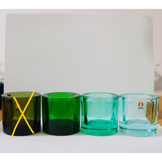 イッタラ(iittala)のiittala × marimekko KIVI 4個 廃盤モスグリーン(置物)