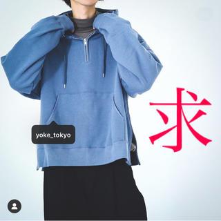 サンシー(SUNSEA)のYOKE 【別注】OVERSIZED PIPING HALF ZIP PARKA(パーカー)