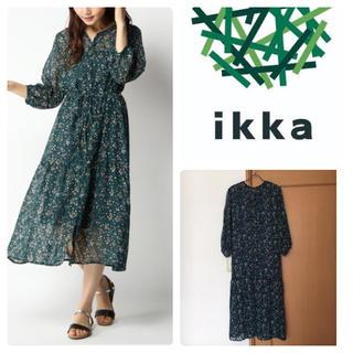イッカ(ikka)のikka ★  トビーパッチワーク柄ワンピース(ロングワンピース/マキシワンピース)