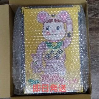 BE@RBRICK 招き猫 ペコちゃん 桃金メッキ100% & 400% (キャラクターグッズ)