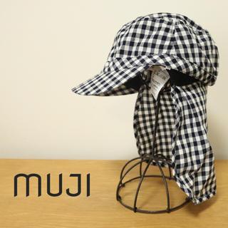 ムジルシリョウヒン(MUJI (無印良品))のチェック キャップ 日よけ 無印良品(帽子)