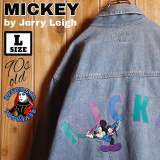ディズニー(Disney)の90年代物 MICKEY by Jerry Leigh 刺繍 デニムジャケット(Gジャン/デニムジャケット)