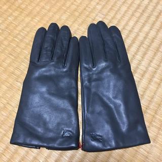 バーバリー(BURBERRY)の【Burberry】レザーグローブ(手袋)