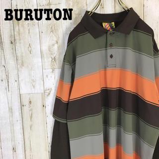 バートン(BURTON)のBURTON バートン ポロシャツ 長袖 ボーダー レイヤード ビッグシルエット(ポロシャツ)