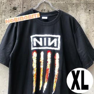 フィアオブゴッド(FEAR OF GOD)の黒XL)半袖 Nine inch nails  NIN ロックT(Tシャツ/カットソー(半袖/袖なし))