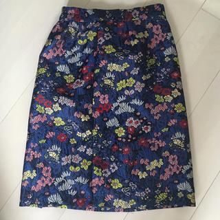 ローズバッド(ROSE BUD)のジャガードスカート(ひざ丈スカート)