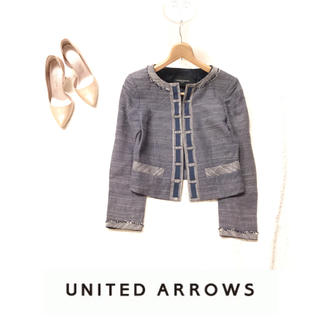 ユナイテッドアローズ(UNITED ARROWS)のUNITED ARROWS◇サイズ36◇ジャケット(ノーカラージャケット)