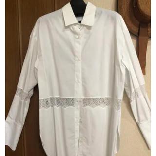ルシェルブルー(LE CIEL BLEU)の(タグ付き未使用)レースシャツ(シャツ/ブラウス(半袖/袖なし))