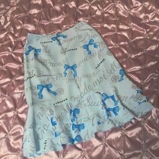 クレイサス(CLATHAS)の✨美品【CLATHAS】 リボン柄 スカート (ひざ丈スカート)