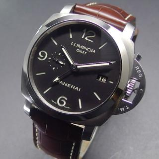 パネライ(PANERAI)の2020年OH済み 美品 パネライ PAM00320 ルミノールマリーナ GMT(腕時計(アナログ))